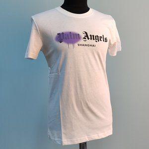 Palm Angels White T-shirt Front Written